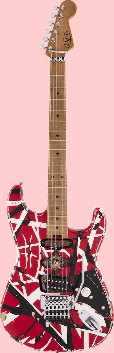 guitare électrique evh frankie striped